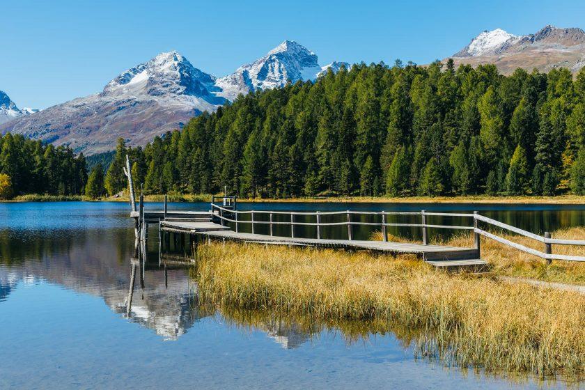 Der Stazersee in St. Moritz. Was für eine Kulisse!
