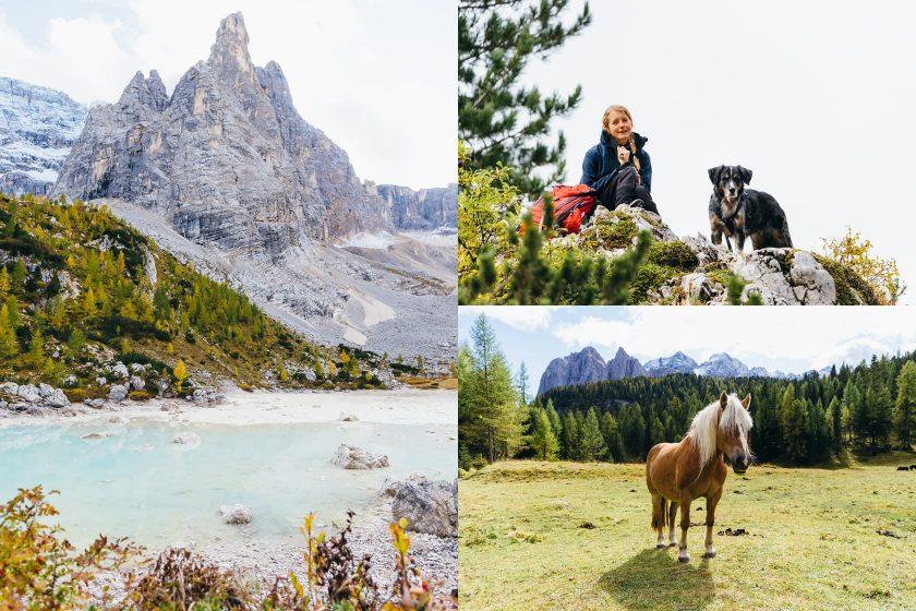 Wanderung zum schönen Lago di Sorapis.