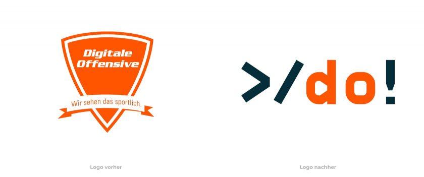 Digitale Offensive Logo vorher nachher