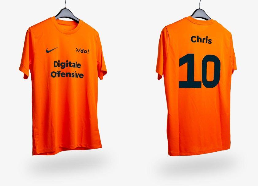 Fußballtrikot der Digitale Offensive in Orange